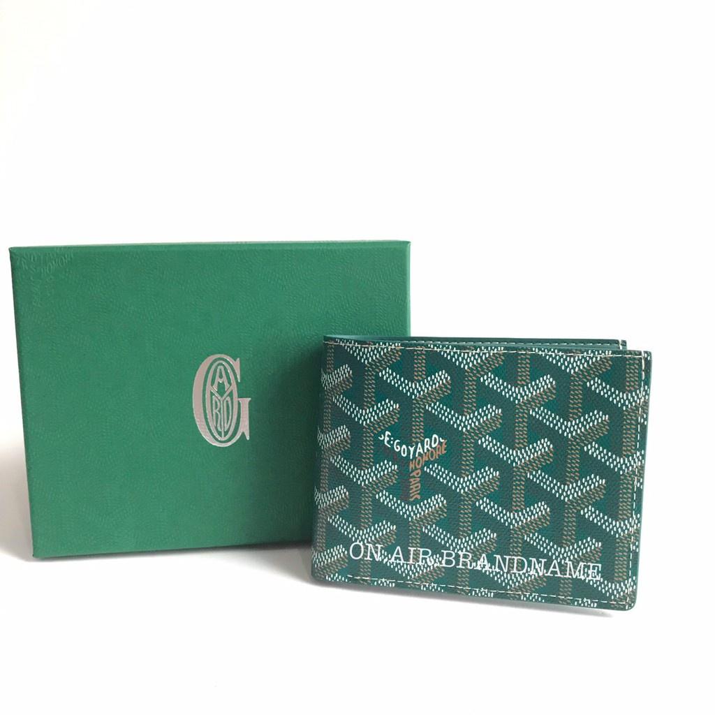 ▽●☏▽New goyard wallet สีเขียวหายาก สวยมาก