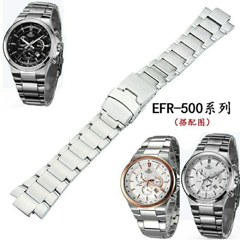 Casio สายนาฬิกาข้อมือสแตนเลส Efr - 500 สําหรับผู้ชาย
