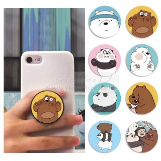 Review กรณี We Bare Bears Mobile Phone Ring Holder Cartoon Airbag Cute Lazy Acrylic Stand Finger Bracket