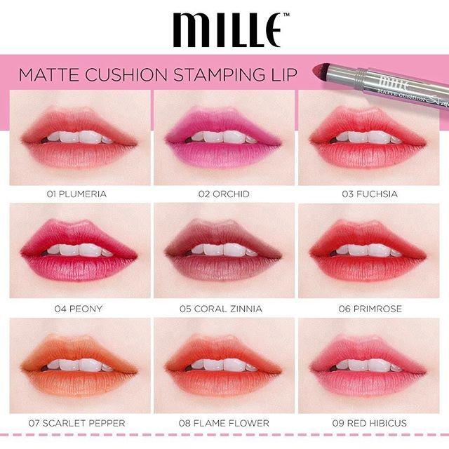 Mille Cushion Matte Lip ลิป Stamping