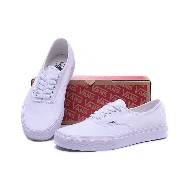 Classic Vans Men's And Women's Old Skool Low-top Skateboarding Shoes Van canvas Casual Shoes Sneakers Color: White | Shopee Thailand
