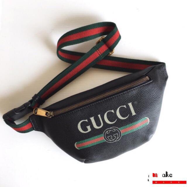 ถูกที่สุด ของแท้ 100% Gucci Print Small Belt Bag