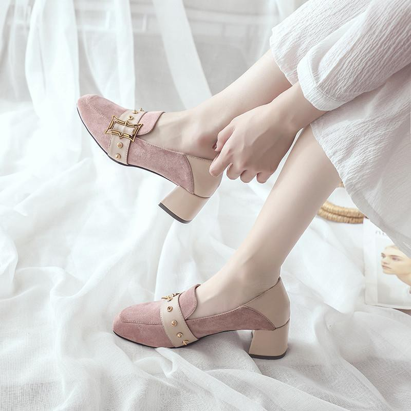 รองเท้าส้นสูง❤️รองเท้าผู้หญิง💖รองเท้าคัชชู💖รองเท้าส้นแก้ว💖รองเท้าคัทชูผู้หญิงรองเท้าส้นสูง รองเท้าส้นสูงแฟชั่น ส้นตัน