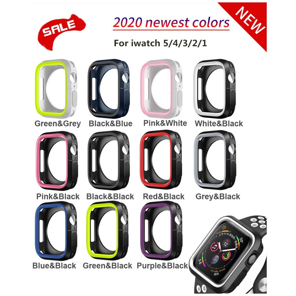 กันชนซิลิโคนสำหรับ Apple Watch Case 44mm 40mm I Watch Case 42mm/38mm Soft Protector COVER Apple Watch 5 4 3 2 1 อุปกรณ์เ