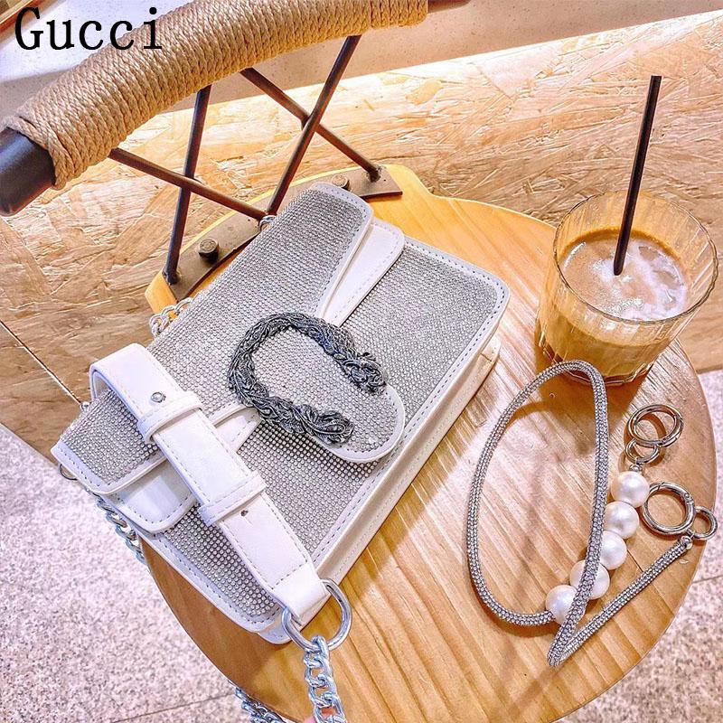 New Gucci กระเป๋า Dionysus Diamond Bacchus แบบคลาสสิก