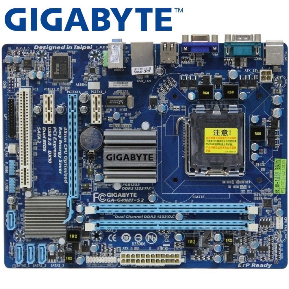 GIGABYTE GA-G41MT-S2 Desktop Motherboard G41 Socket LGA 775 For Core on