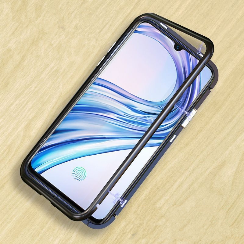 Mzxtby Magnetic Glass Phone Case For Samsung S7 S8 S9 J4 J6 J8 2018 A7 A8 A9 S10 plus C9 C7 pro Case Cover Shell Accesso