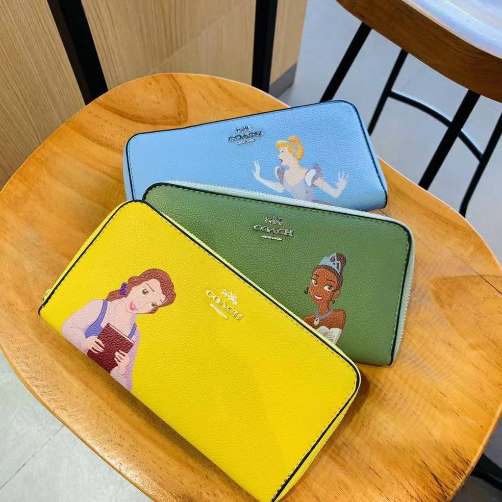(พร้อมส่ง) กระเป๋าสตางค์ซิปรอบ coach เจ้าหญิง Disney ใบยาว-ใบสั้น