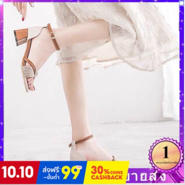 ⭐👠รองเท้าส้นสูง หัวแหลม ส้นเข็ม ใส่สบาย New Fshion รองเท้าคัชชูหัวแหลม  รองเท้าแฟชั่นผู้หญิงรองเท้าเย็นผู้หญิงรองเท้าส้น