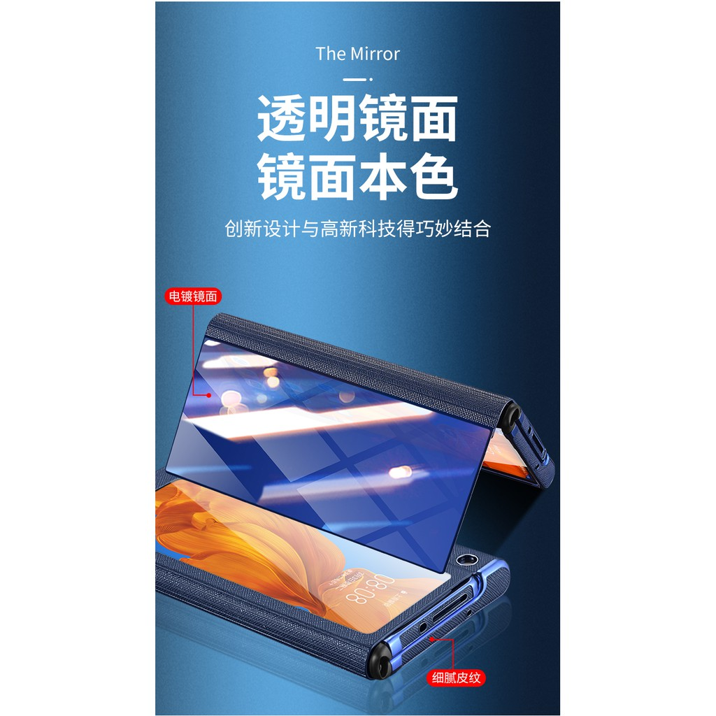 Image # 5of Review Huawei Folding Mobile Phone Protective Shell NewmateStreamer Electroplating Mirror Three-in-OnexsPhone Case Foldable Scr