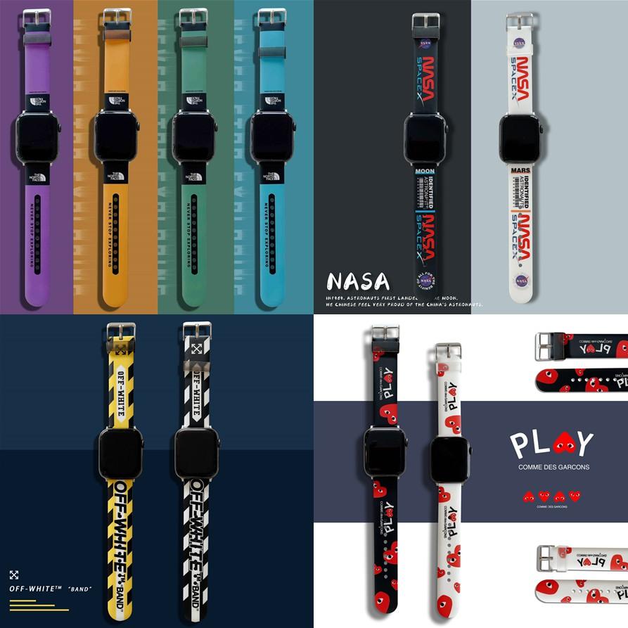 2021[20 ใหม่]The North Face Apple Watch strap สายซิลิโคน iWatch series SE 6 5 4 3 2 1 สาย applewatch 38 40 42 44mm