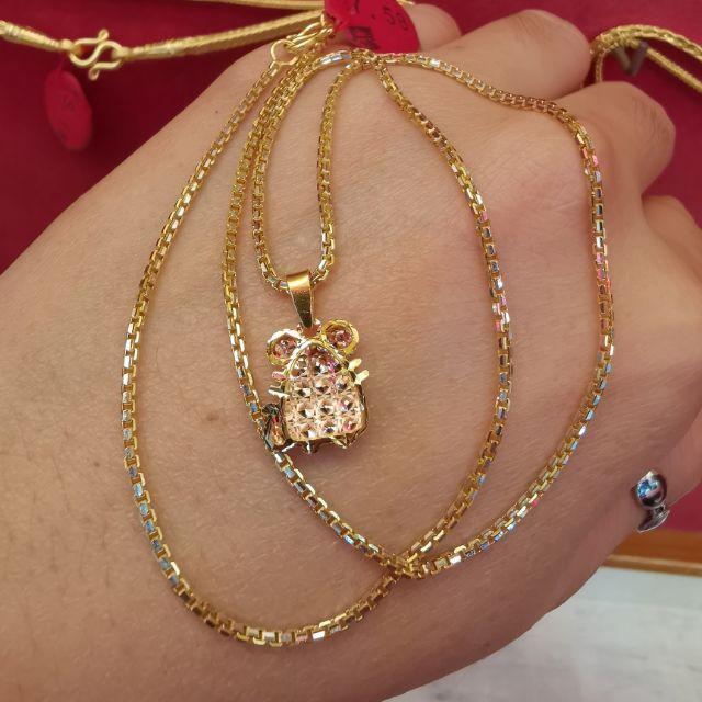 ##ซื้อเฮงใส่ดี สร้อยคอระย้าทอง 96.5%  ความยาวไม่รวมจี้ 20.5cm   ราคา  15,800บาท