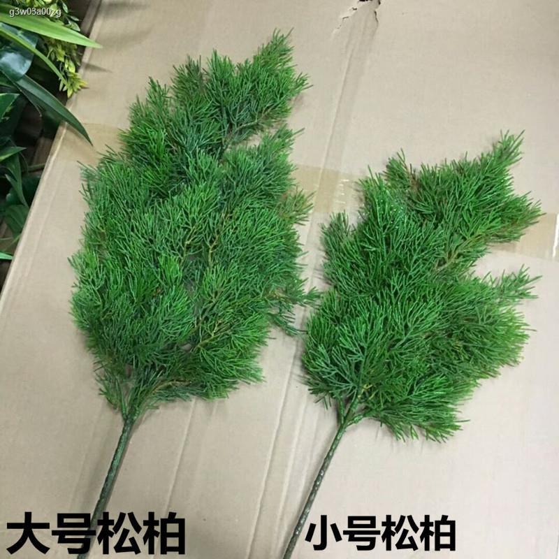 การจำลองพันธุ์ไม้อวบน้ำ✗การจำลองใบธูจา ใบปลอม เข็มโพโดคาร์ปัส กระถางต้นไม้ กิ่งสนพลาสติก การตกแต่ง ความงาม ต้นสน ใบไซเปร