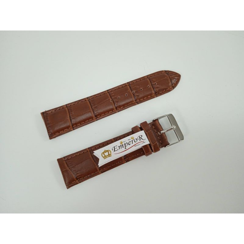 สาย applewatch แท้ สาย applewatch สายนาฬิกา หนังแท้ ลายจรเข้ ขนาด 22 มิลลิเมตร สีน้ำตาลเข้ม