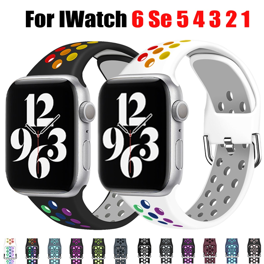 Apple watch strap, 40mm, 44mm / 42mm / 38mm, accessories, silicone watch strap, Iwatch Sports Wristband Series 6 se 5 4