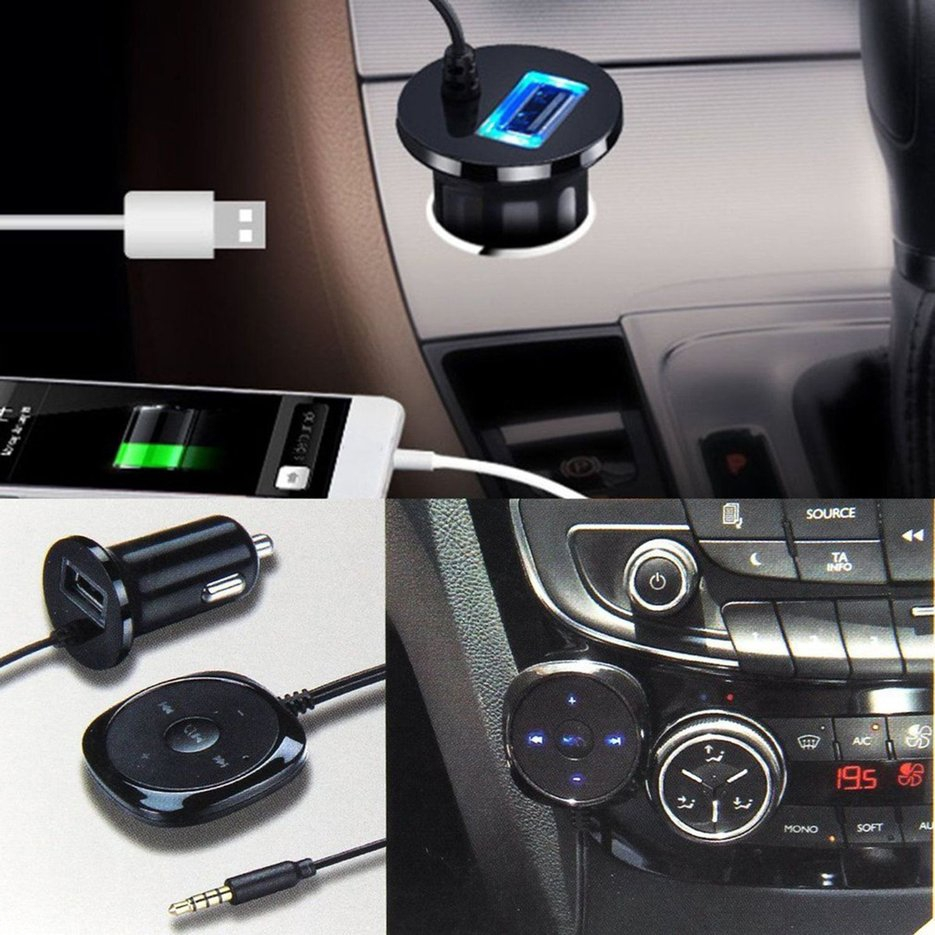 AUX-in Bluetooth Wireless Receiver Adapters Dongle for Car Stereo Audio Speakers