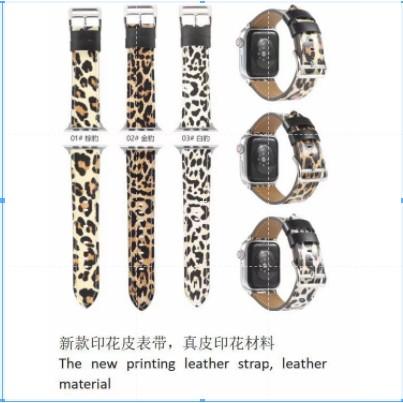 Hermes แฟชั่ Apple Watch strap หนังแท้ สายนาฬิกาข้อมือ iWatch Series 3/4/5/6 SE Genuine Leather strap 38/40/42/44mm