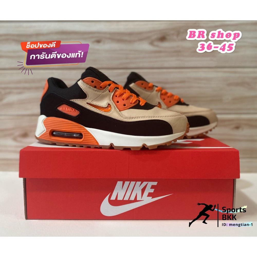 การส่งเสริมจัดส่งฟรีจัดส่งฟรี[Sports BKK] รองเท้าผ้าใบNike รองเท้าผู้ชาย Air Max 90 (New color) มี 2 สี size: 36-45 รองเ