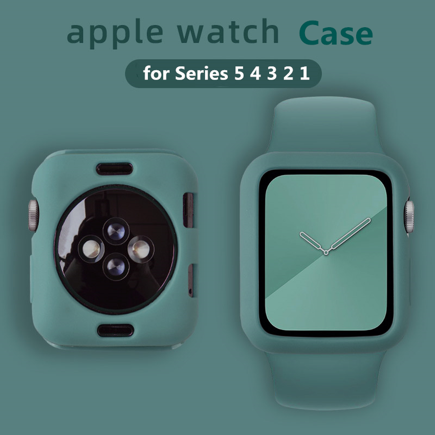 Apple Watch Protective Case Series SE6 5 4 3 2 1 Candy Silicone Case Bumper iwatch 40mm 44mm 38mm 42mm Color TPU Protective Cover Ultra-thin Protector Ultra-thin