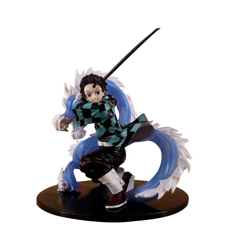 Hot Anime Demon Slayer Kimetsu no Yaiba Kamado Tanjirou VC Action Figure Toy Model Toys Collection Doll Gifts