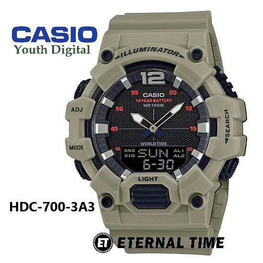 (2 YEARS WARRANTY) Casio HDC-700 Original Series Youth Analog-Digital Men Watch JAM TANGAN LELAKI