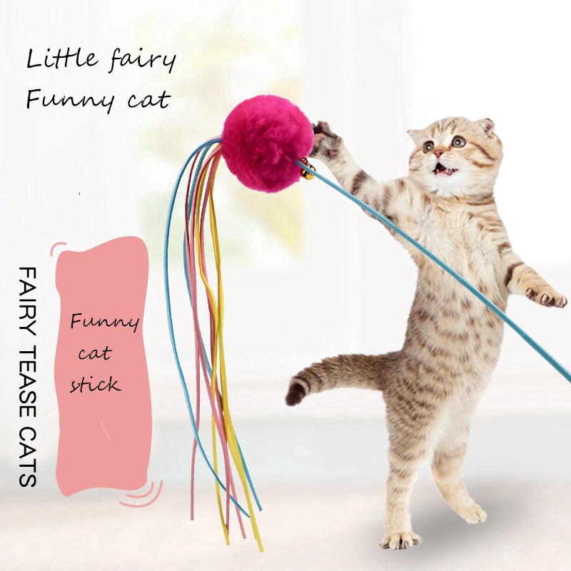 Cat Toys Pp Interactive Fun With 3-level Tower Ball & Track Kitten Cat Funny Toy 19.5cm Light Blue Pink Green Pet Products Cat Supplies