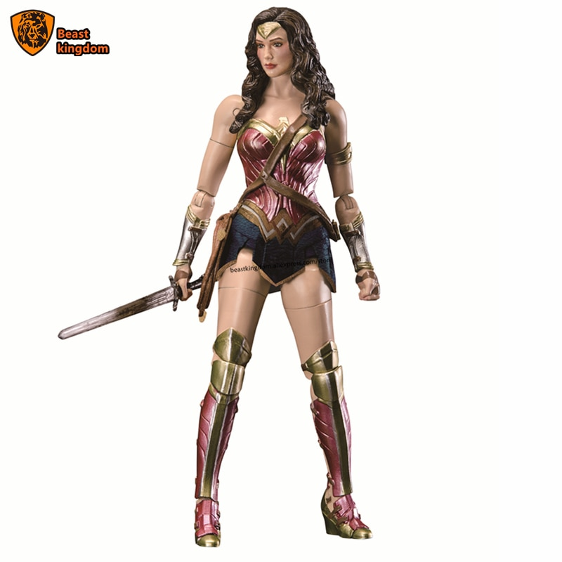 Beast kingdom 1/9 Dolls can move soldiers DC Dawan of justicewonder woman Gift Figure Collection garage kit