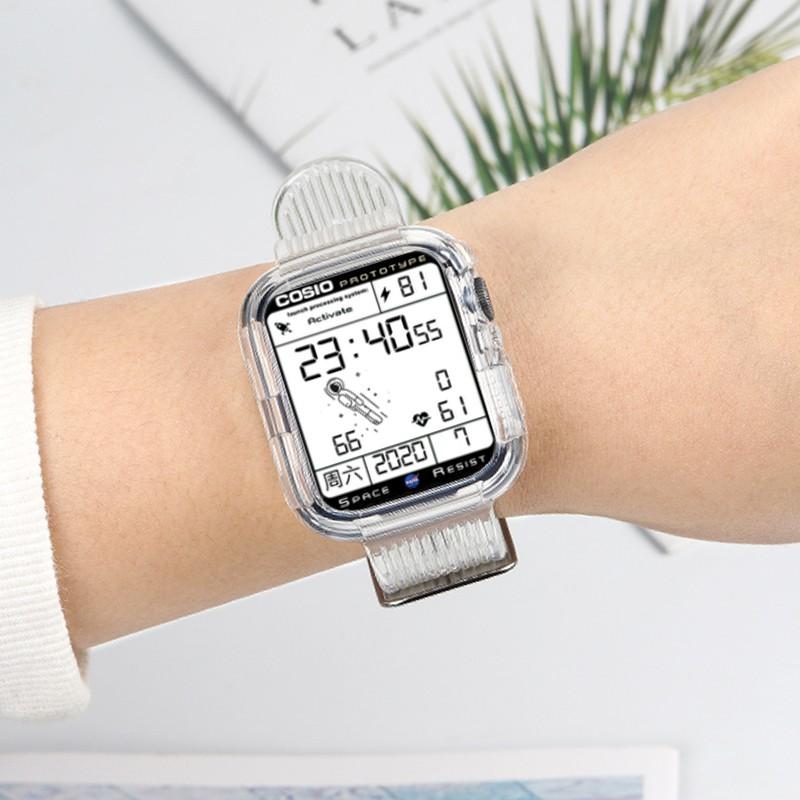 สาย applewatch○> สายรัด iwatch ที่ใช้งานได้ Glacier limited 6 สาย Apple watch applewatch se โปร่งใสในตัว 3/4/5 รุ่นนัก