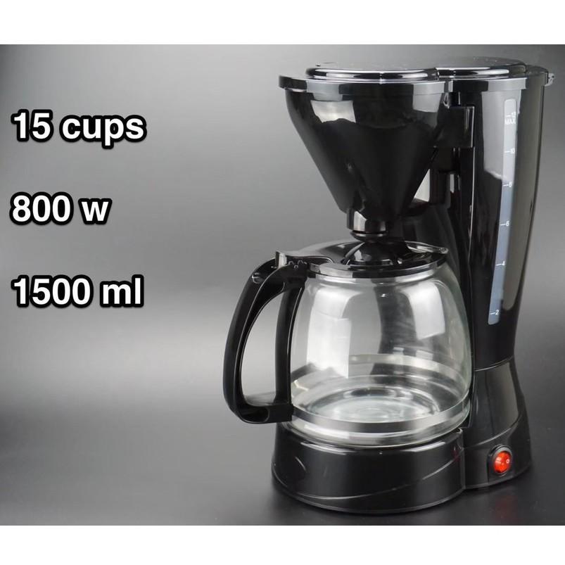 พร้อมส่ง✔ เครื่องชงกาแฟสด เครื่องทำกาแฟสด ชงกาแฟได้  15ถ้วย