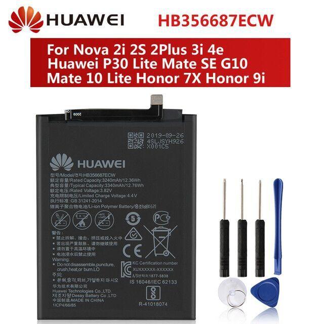 แบตเตอรี่มือถือ แบต plus แบตเตอรี่ Huawei Nova 3i Nova 2i Nova 2Plus P30 Lite HB356687ECW Mate 10 Lite G10 Honor 7X mate