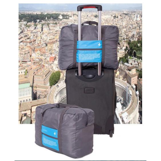 กระเป๋างอก กระเป๋าเดินทาง พับได้ กระเป๋าเสริม ยึดกับกระเป๋าล้อลากได้