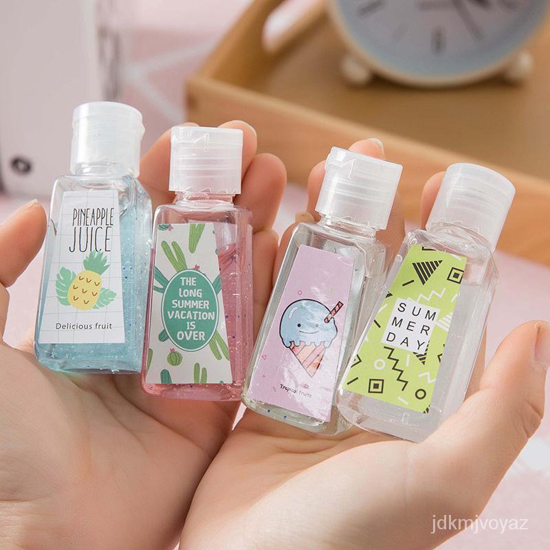 เจลทำความสะอาดมือแบบพกพาสำหรับเด็กเจลล้างมือแบบเจลแอลกอฮอล์ 30มล.แบบหูหิ้ว 75%