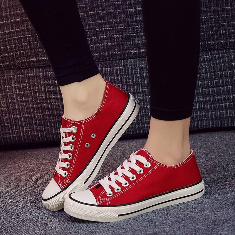 รองเท้าคัชชู ☟รองเท้าผ้าใบสีดำนักเรียนหญิงเกาหลีระบายอากาศรองเท้ากีฬาหญิงโฟร์ซีซั่นส์รองเท้าแบนเดียวรองเท้าลำลองรองเท้าฮ