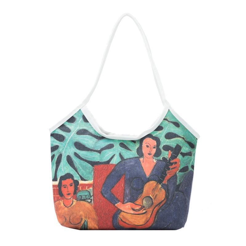 กระเป๋าผ้า กระเป๋ากระเป๋าทรงช้อปปิ้ง ผ้ากระสอบ กระเป๋าเป้ coach กระเป๋า coach คล้องมือ แฟชั่น