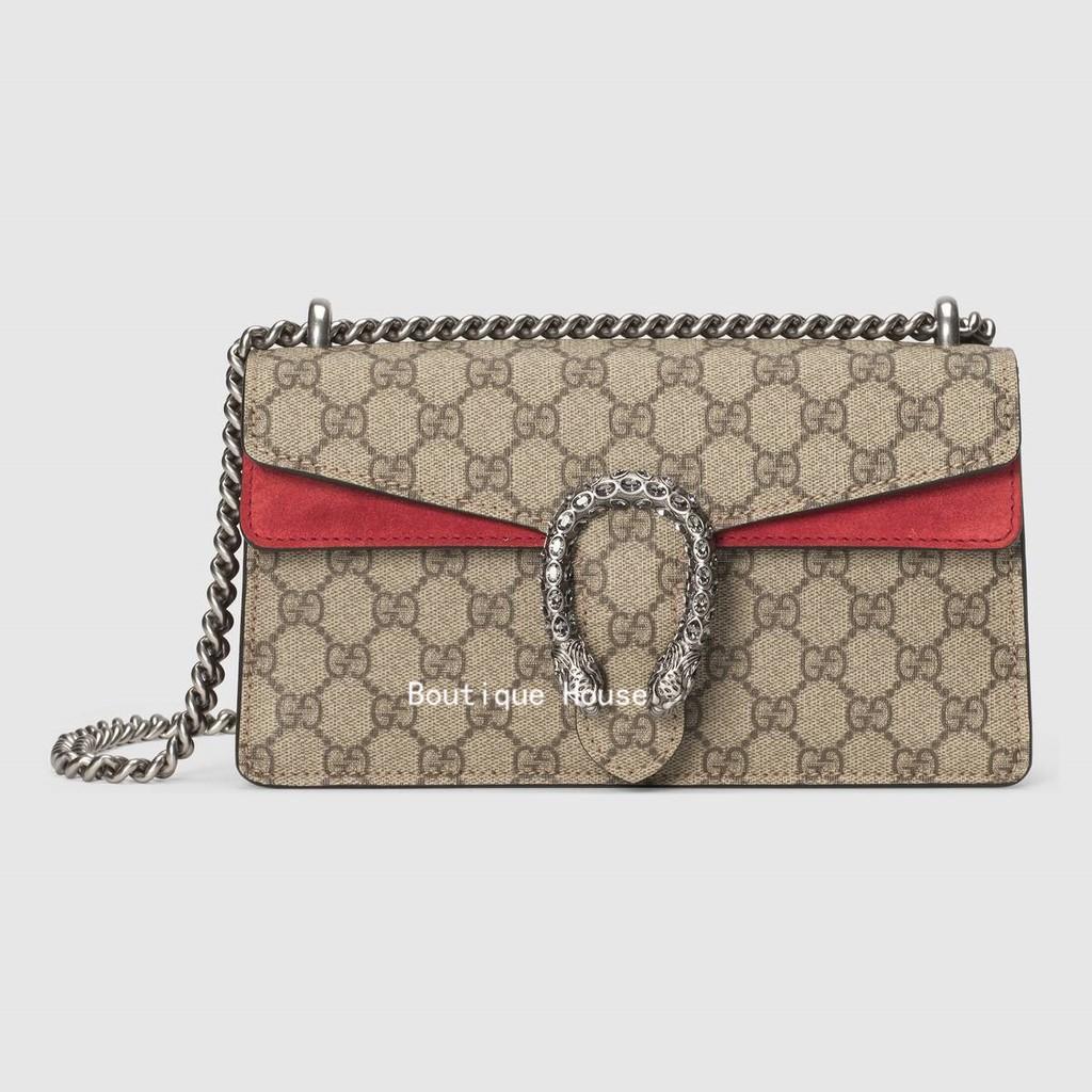 Gucci / ใหม่ / Dionysus Series GG กระเป๋าสะพายขนาดเล็ก / กระเป๋าถือผู้หญิง / กระเป๋าโซ่ / 499623 92TJN 8677
