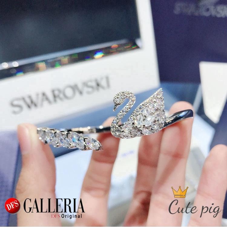 Swarovski สร้อยข้อมือคริสตัลรูปหงส์วาว 5231330