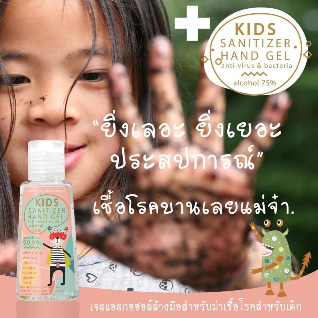(พร้อมส่ง) Alcohol แอกอฮอล์ 75% เจลล้างมือขนาดพกพา สำหรับเด็ก และผู้ใหญ่ 👍👍