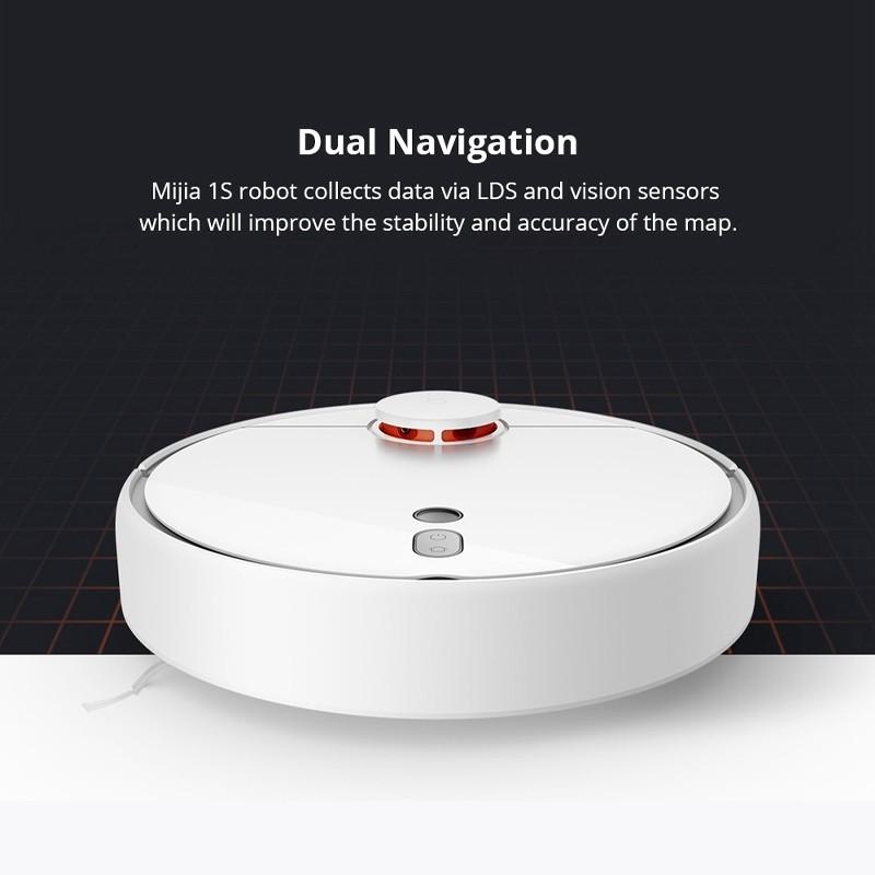 Xiaomi Mi Robot Vacuum Cleaner 1s หุ่นยนต์ดูดฝุ่น ทำความสะอาด เชื่อม App ได้ YOQQ