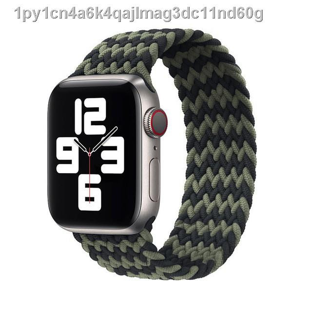 🚀พร้อมส่ง🗼◑สาย applewatch newest Woven Solo Braided Loop Watch strap for apple 6 se 40 มม 44 42 38 iwatch series 5 4