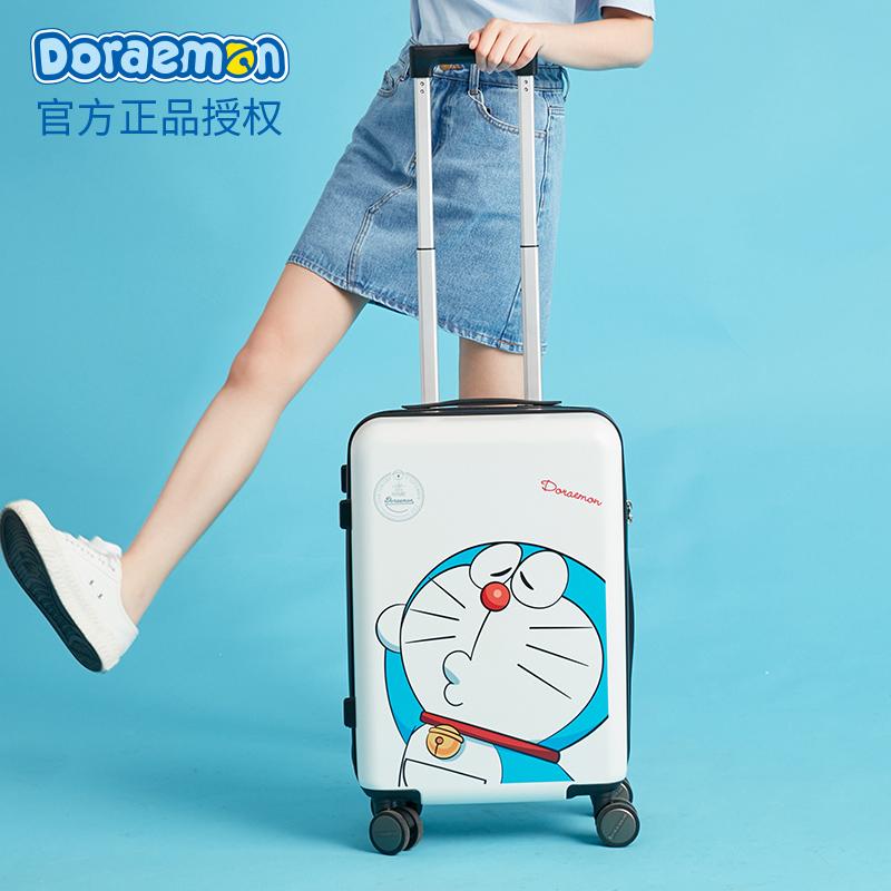 ⅞π กระเป๋าเดินทางล้อลากใบเล็ก กระเป๋าเดินทางล้อลากโดราเอมอนกระเป๋าผู้หญิงขนาดเล็ก20นิ้ว18สาวน่ารักรหัสผ่านกระเป๋าเดินทาง