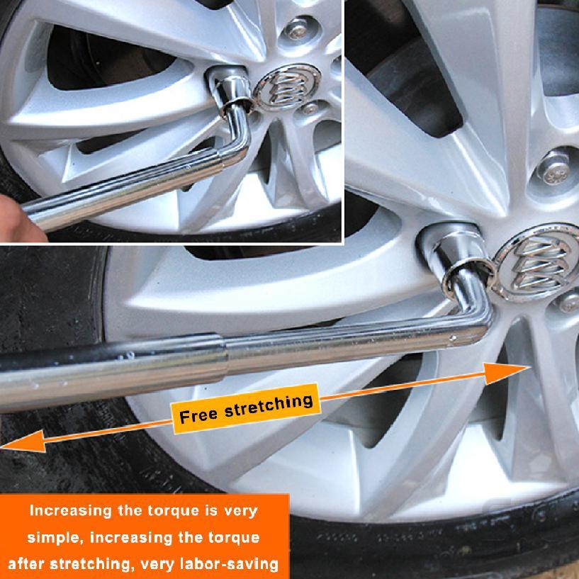 ยางรถยนต์หดได้นานประหยัดแรงงานถอดแขนเปลี่ยนเครื่องมือประแจยางยืดไสลด์