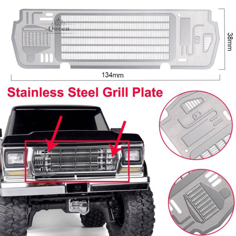 Radiator Grill Plate for Traxxas TRX-4 BRONCO 1/10 Car Accessory Kit Silver  RC