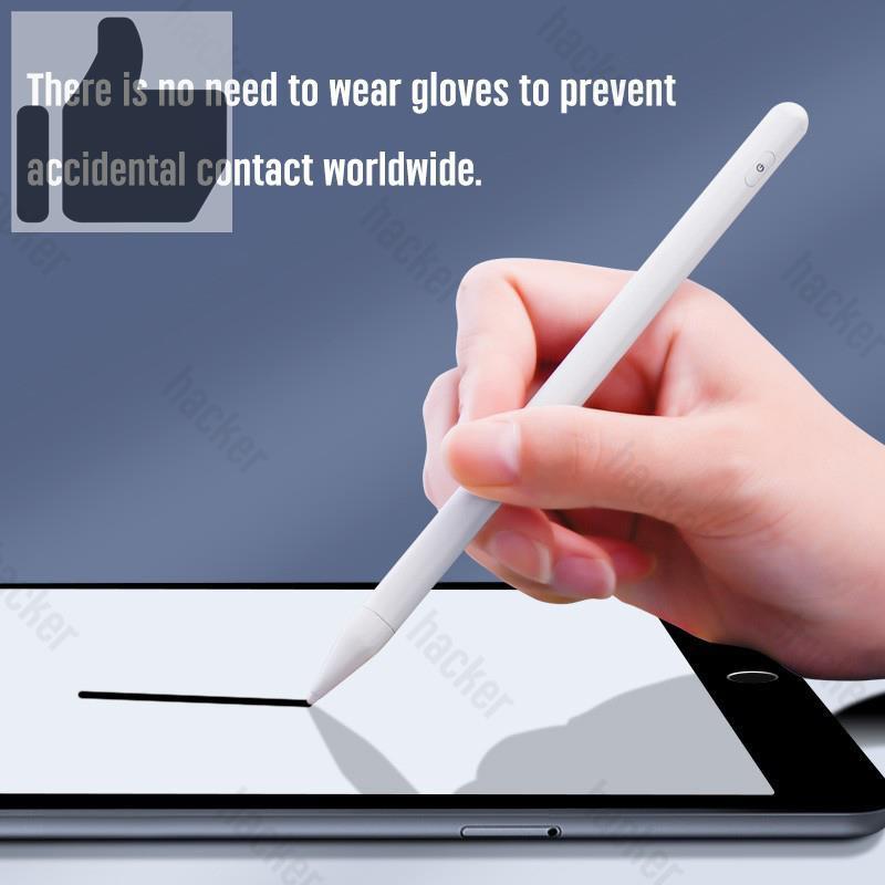 ▼☒HACKER ปากกาไอแพด วางมือ+แรเงาได้ Apple Pencil stylus ipad gen7,8 2018 applepencil 10.2 9.7 2021 Air4 Pro11 รับประกั