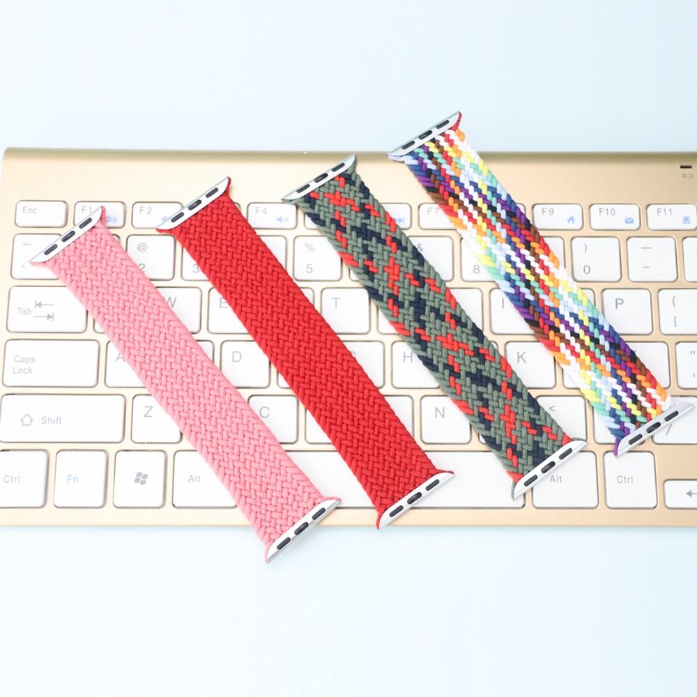 1:1 braided fabric สายนาฬิกาไนล่อน Apple Watch 6 44 มม 40มม 38 มม 42 มม iwatch series 6 se 5 4 3 2 1 สาย applewatch 8dEQ