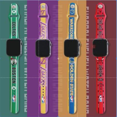 แพงกว่า แต่ดีกว่าNBA แฟชั่ Apple Watch strap ซิลิโคนเหลว  สายนาฬิกาข้อมือ iWatch Series SE 6 5 4 3 2 1  สาย applewatch 3