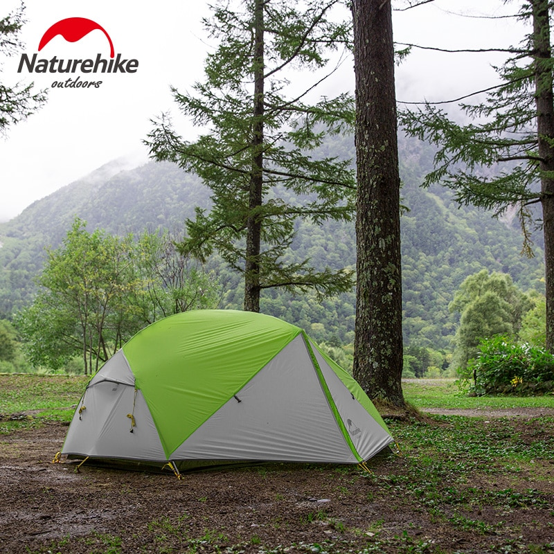 Please COD Naturehike New Mongar 2-3 Person Tent 20D Nylon Ultralight Outdoor Camping Tent and tent Vestibulenew
