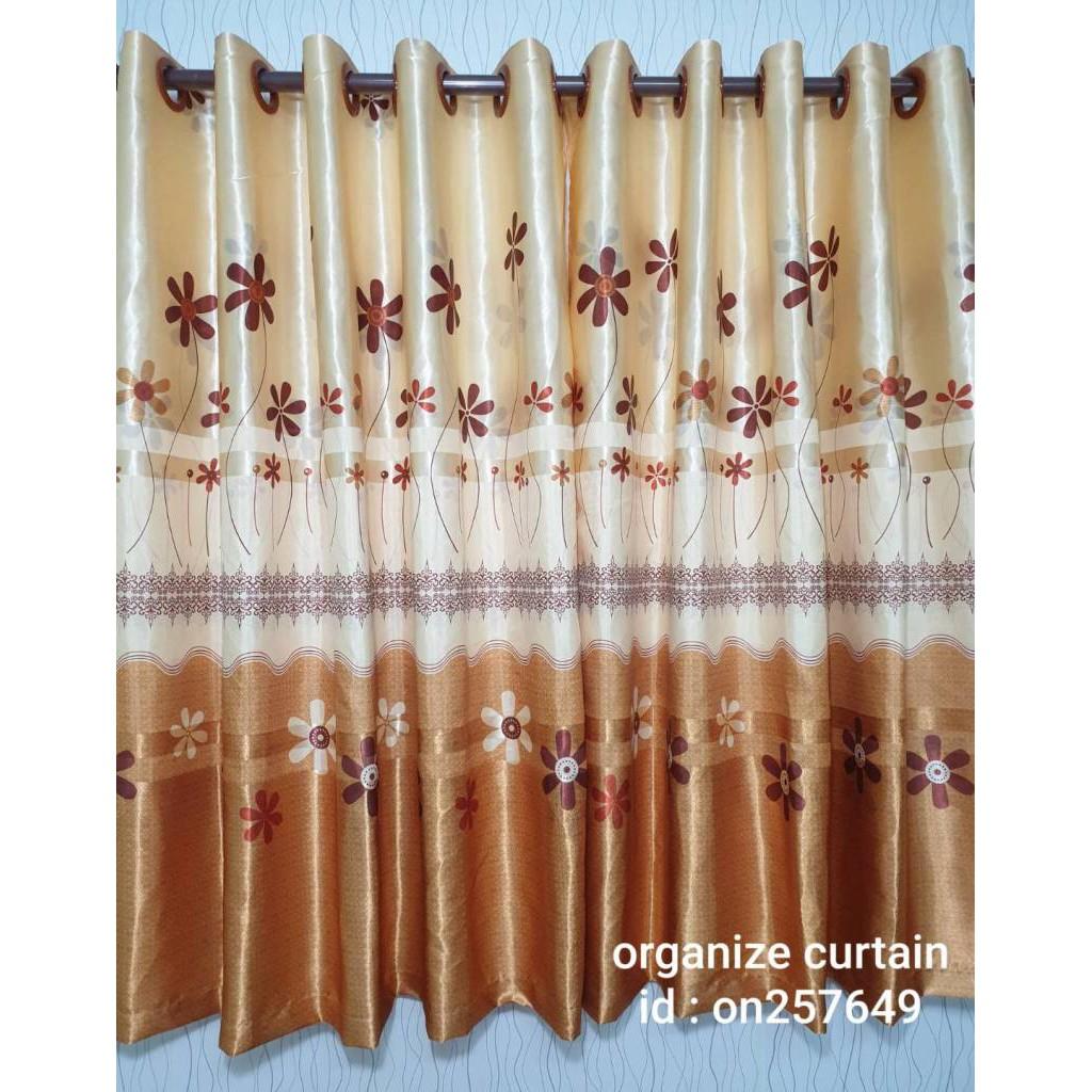 ผ้าม่านหน้าต่าง ลายดอกไม้ ผ้าหนาพิมพ์หน้าเดียว ผ้าม่านประตู ผ้าม่านสำเร็จรูป ผ้าม่านเจาะตาไก่ ผ้าม่านกันยูวี 70%