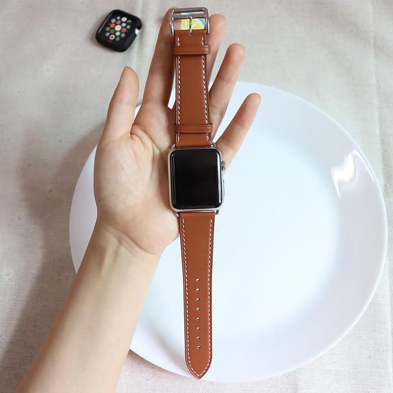 【สาย Apple】ใช้ได้กับสายรัด Apple iwatch6 se44mm42 / 40mm38 leather iphone seriesS6 เพื่อแทนที่ applewatch6 เจนเนอเรชั