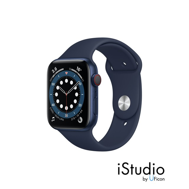 Apple Watch Series 6 GPS + Cellular, Stainless Steel Case with Sport Band/ Milanese Loop ;iStudio by UFicon