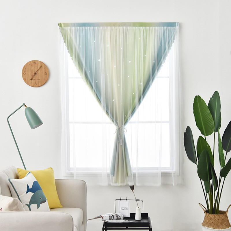 🍄ผ้าม่าน🍄ม่าน ม่านเวลโคร Curtain ผ้าม่านสำเร็จรูป ติดตั้งง่าย หมัดฟรีสองชั้นม่านดี ม่านประตูผ้า แรเงา